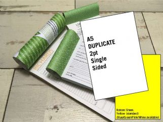 A5 Duplicate - 2 part (2pt) Single Sided